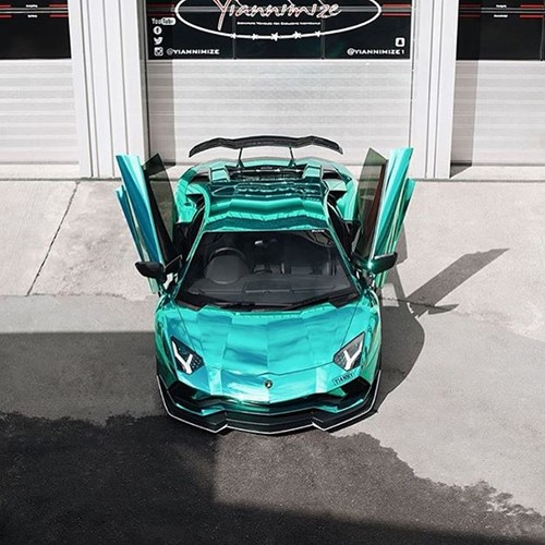Hexis HX30SCH09B Super Chrome Turquoise Gloss, 1370mm-1
