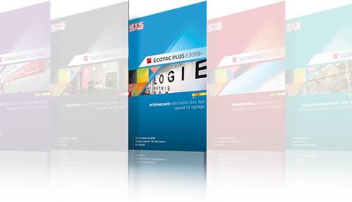 A4 kleurkaart Hexis Ecotac E3000+ serie A4 kleurenkaart