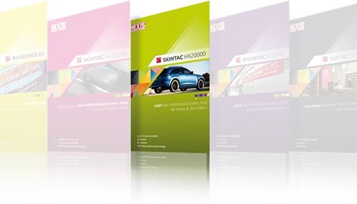 A4 kleurkaart Hexis Skintac HX20000 serie A4 kleurkaart