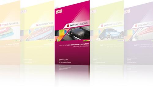 A4 kleurkaart Hexis Skintac HX30000 serie A4 kleurkaart