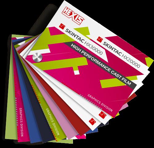 Kleurenwaaier Hexis Skintac HX20000 + HX30000 serie Swatchbook
