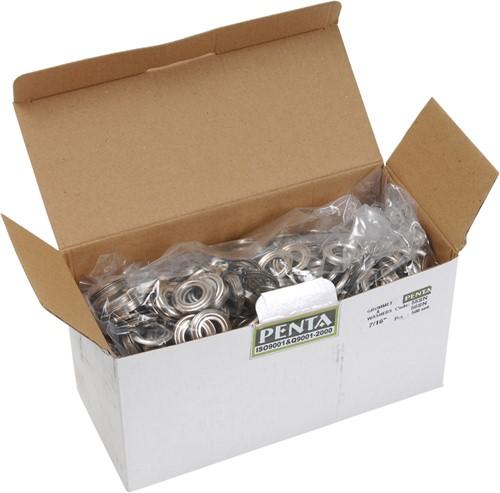 Eyelet ring nikkel 12 per 500 st