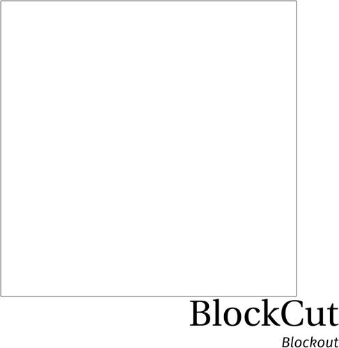 Hexis Blockcut White Block Out flex