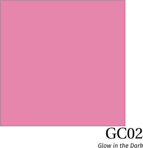 Hexis Glow in the dark film GC02 Pink