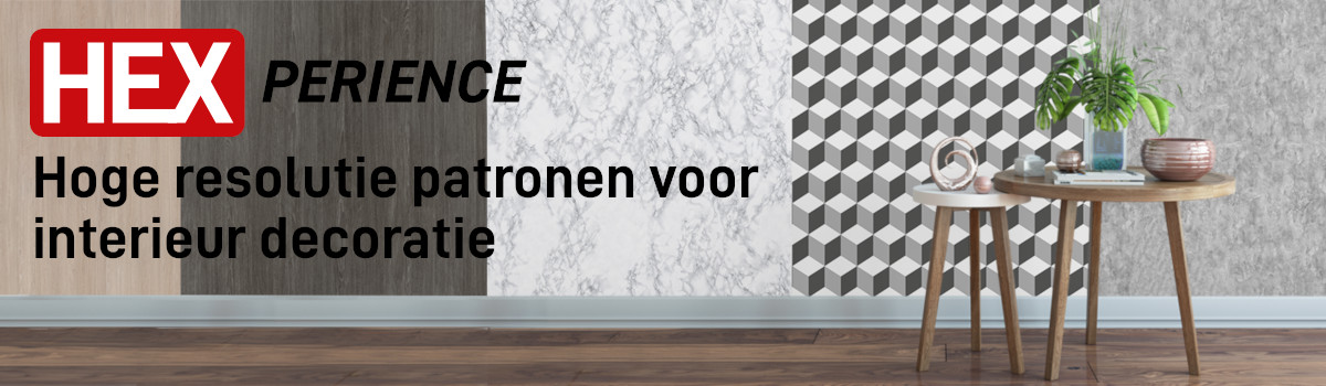 HEXPERIENCE - Hoge resolutie print patronen voor interior deco